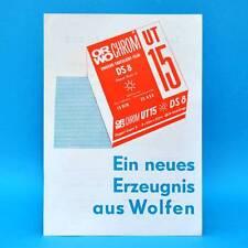 ORWO UT 15 DS 8 von 1974 Werbezettel Werbung DDR Wolfen Bitterfeld D