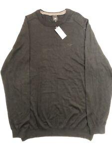 River Island Mens Black Smart Slim Fit Long Sleeve Sweater Sz XL BNWT