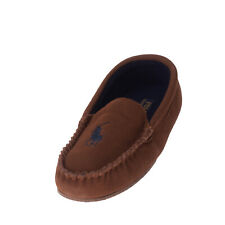 POLO RALPH LAUREN Leather Moccasins Size 40 UK 6.5 US 7 Embroidered Logo