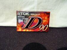 TDK D90 Normal Position Type I Blank Audio Cassette Tape