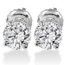 5/8ct Diamond Screw Back Studs 14K White Gold