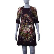 Kurzarm Damenkleider mit Blumen-S
