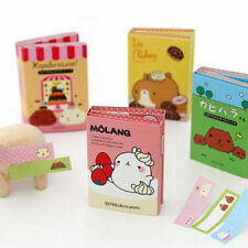 1 x Molang Animal Sticker Paste Bookmark Point Memo Flag Paper Sticky Note Book