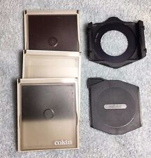 Vintage GENUINE COKIN P Series TRIPLE Filter Holder 52mm Dark Slide 3 Filters