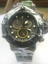 New Mens Invicta Subaqua Swiss Quartz Chronograph Black Dial 50mm Watch
