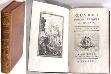 OEUVRES PHILOSOPHIQUES DE MR. D*** Tome 1, Denis DIDEROT Livres anciens