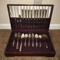Flatware, Nobility Caprice, silverplate, lot of 51 pieces of flatware. #A66