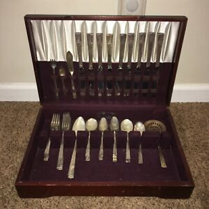 Flatware, Nobility Caprice, silverplate, lot of 51 pieces of flatware. #A45