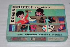 DOMINO PUZZLE des Objets vintage Game 1960s Jeux Fernand Nathan