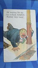Political Comic Postcard 1910s Lloyd George National Insurance Sickness Benefit