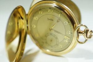 Alte Zentra Taschenuhr 585/14k Gold, 3-Deckel, Savonette