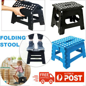 Portable Folding Step Stool Plastic Foldable Chair Store Flat Outdoor Camping AU
