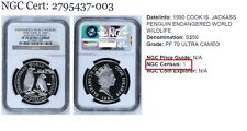 1990 COOK ISLANDS SILVER JACKASS PENGUIN SILVER NGC PCGS ANACS PF 70 wildlife