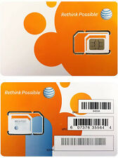 At&T Sim Card Compatible with Prepaid (GoPhone) and Postpaid At&T Cellular Se.