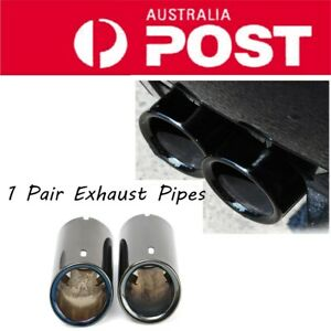 2x Car Tail Exhaust Silver Tip Pipes For BMW E90 E92 325 328i 3 Series 2006-2010