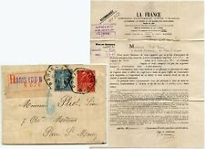 FRANCE lettre imprimée inscrit TPO Hexagone postmark + Exposition Timbres 1931