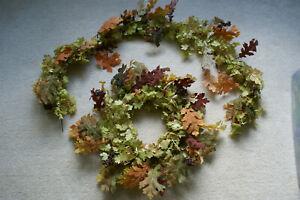 EUC Pottery Barn Fall Leaf Berries Wreath & 5' Matching Garland FREE SHIPPING