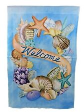 """40"""" All Weather Shell Wreath Large Flag Flying Sea  00006000 life, outside Garden Decor"""