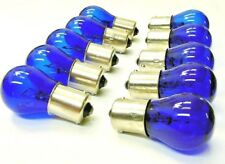 10pc GM 1156 12V Incandescent Blue Back Up Turn Signal Corner Light Bulbs Lamps