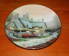 Thomas Kinkade Collector Plate Garden Cottages of England McKenna's Cottage Coa