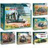 "ZVEZDA Model Kits ""German Artillery Pieces & Ordnance w/Crew & Soldiers, WWII"""