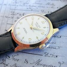 NEW OLD STOCK SWISS MADE Vintage HELIOS Mens watch 17 Jewels 1960s-MINT