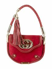 Gorgeous Red Suede GUCCI  Handle Bag Authentic and Rare