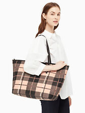 Kate Spade Ellison Ave Harmony Baby Diaper Bag Tote w/ Changing Pad Plaid Pumice