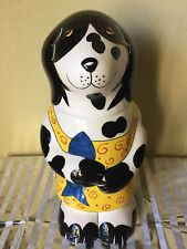 "Ceramic Dog Treat Jar by Henriksen Imports New Ship Free 15"" Tall Pet Container"