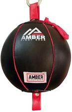 Amber Leather Double End Dodge Speed Ball Boxing Floor To Ceiling Punching Bag