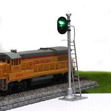 JTD433GR 2PCS  Model Railroad Train Signals 2-Lights Block Signal  O Scale 12V