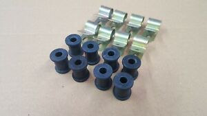 Land Rover Series 2 2A 3 88 109 & Lightweight Rear Brake Pipe Clip & Rubbers x 8