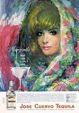 1966 Jose Cuervo Tequila vintage PRINT AD Sam Katz bold colorful beautif artwork