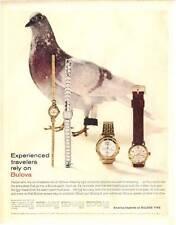 1960 Bulova PRINT AD Accutron Watches Lido Rhapsody Bulova 33 Clipper Pigeon thm
