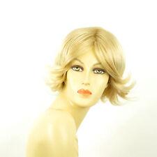 Perruque femme courte blond doré méché blond très clair  LISA 24BT613