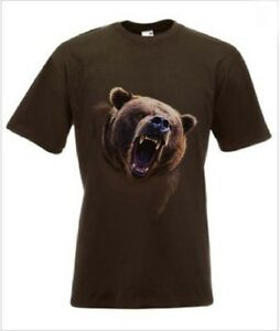 Grizzly Bear T-Shirt Bear Tee in any size