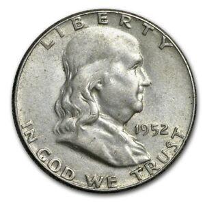 1952 Franklin Silver Half Dollar - AU