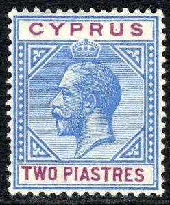 Cyprus1912 blue/purple 2pi multi-crown mint SG78