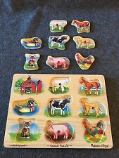 WOOD PUZZLE FARM ANIMALS WITH SOUND