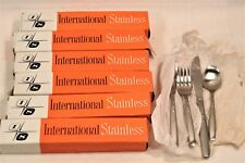 Vintage International Stainless American Fashion Lot of 22 Flatware Set BOXED