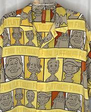 Vintage Platinum FUBU Fat Albert & Gang Button Up Short Sleeve Shirt Men's  XL