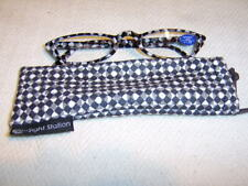 """Sight Station""""Mono""""By Foster Grant Unisex Fashion Reading Glasses&Case"""