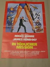 JAMES BOND 007 - IN TÖDLICHER MISSION Filmplakat Poster ROGER MOORE A1