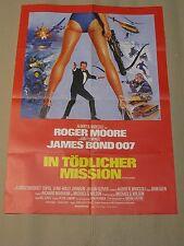 JAMES BOND 007 - IN TÖDLICHER MISSION - Filmplakat Poster - ROGER MOORE