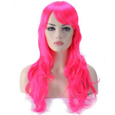 28 inch Ombre Full Wig Natural Heat Resistant Synthetic Hair Wig With Soft Bangs