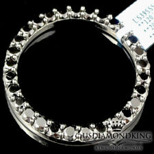 Solid Sterling Silver All Black Lab Diamond Bezel for Rolex Datejust 41 MM 20 Ct