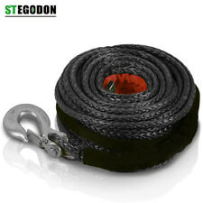 St Dyneema Synthetic Winch Rope With Hook 38 X 100ft 23809 Lbs Recovery Cable