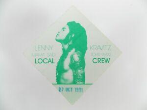 LENNIE KRAVITZ 1991-92 Mama Said Tour Local Crew Back Stage Pass Satin Otto