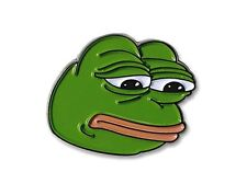 "Sad Pepe Lapel Pin 1"" Metal Dank 4chan Collector Meme @ Brand New @ US Seller"