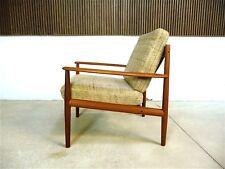 Danish GRETE JALK Teak & Wool Easy Chair for CADO Vintage Sessel | 1960er 1960s